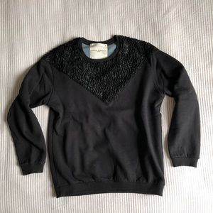 Other - Designer faux fur sweater